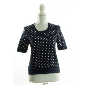 Zara Navy Blue & White Polka Dot Shirt